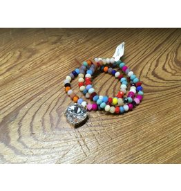 Tres Chicas fiesta beads w/ crystal