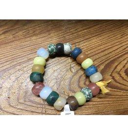 Tres Chicas Matte Barrel Beads