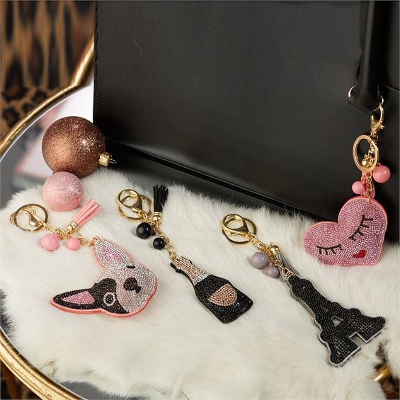 Two's Company Bling Key Ring