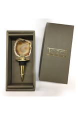 Two's Company Agate Bottle Stopper