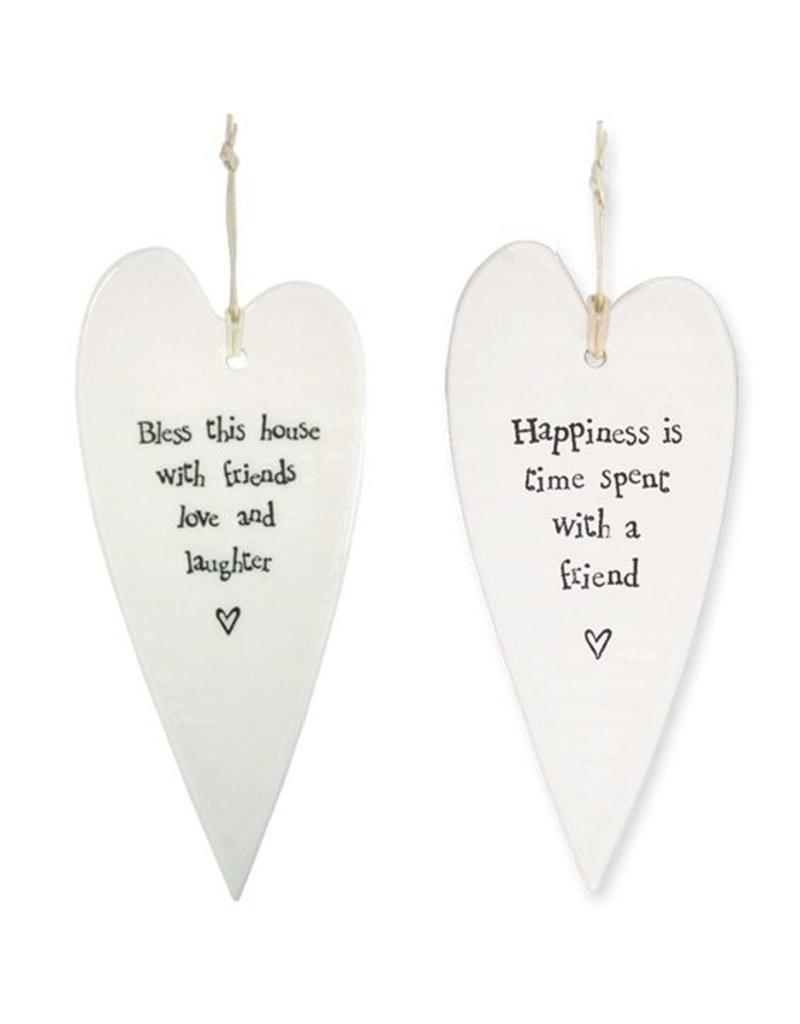 Two's Company Ceramic Heart Ornament