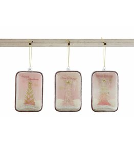 Creative Co-Op Shadowbox Glitter Ornaments