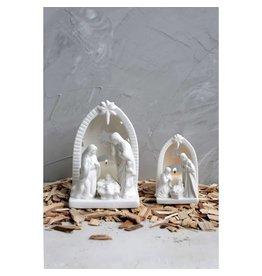 Creative Co-Op Nativity Scene Tea Light Holder