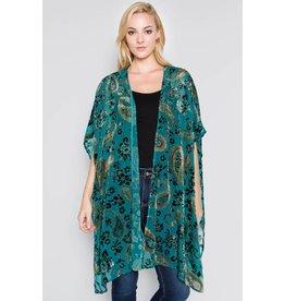 See and Be Seen Velvet & Sheer Kimono