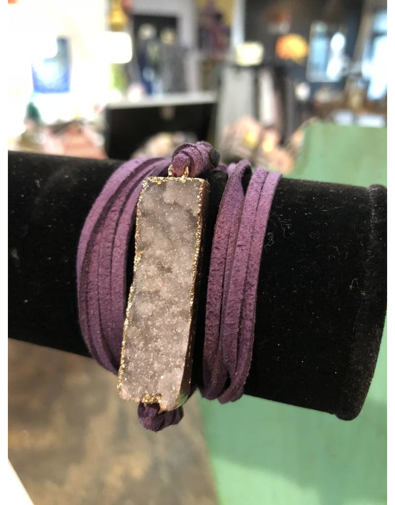 Elysian Designs Druzy Suede Wrap/Necklace
