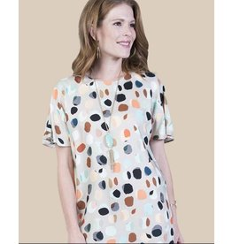 Ivy & Jane Pleat Back Polka Dot Dress