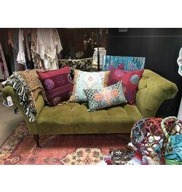 chartreuse velvet sofa