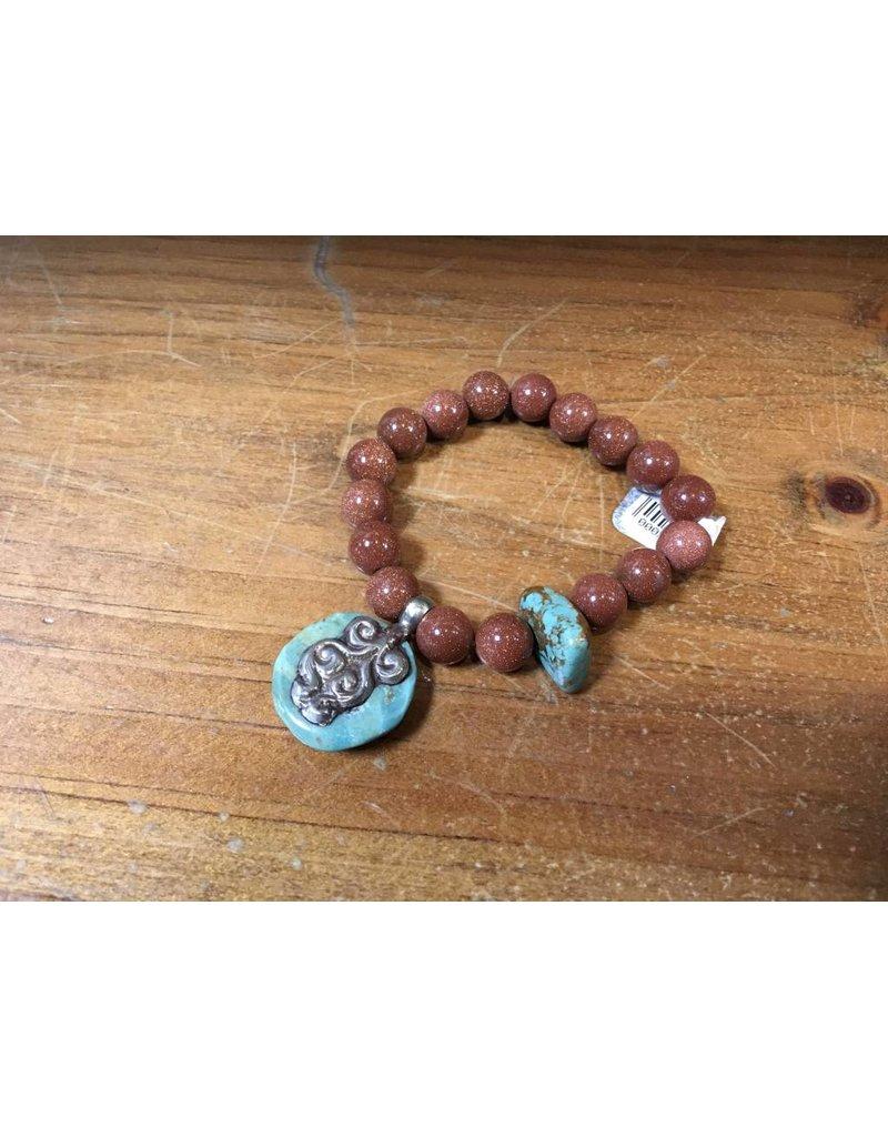Tres Chicas Sandstone Bracelet w/TQ