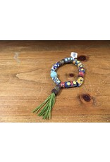 Tres Chicas tribal bead w/ tassel