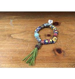 Tres Chicas tribal bead w/ tassel