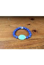 Holly Zaves BBB-172 Blue/Chalc Bracelet