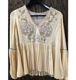 Blank Flowy Sleeved Embroidered
