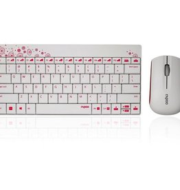 Rapoo Rapoo 8000 Keyboard/Mouse Combo Red