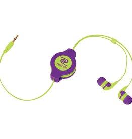 ReTrak ReTrak Neon PUR/YW Earbuds
