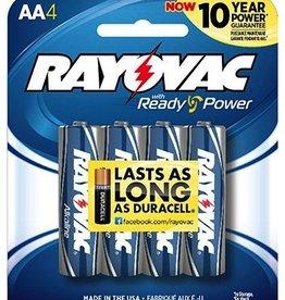 Rayovac RAYOVAC 815-4F Alkaline Batteries (AA; 4 pk)