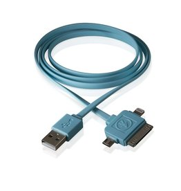 Outdoor Tech Outdoor Tech Three in One Charge Cable Blue