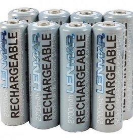Lenmar Lenmar Rechargeable Batteries AA 8pk