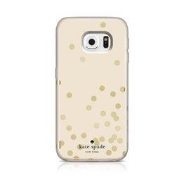 Kate Spade New York Kate Spade Hybrid Hardshell Case Samsung Galaxy S6- Confetti Dot Gold/Cream
