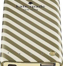 Kate Spade New York Kate Spade Backup Battery Bank- 4000mAh- Diagonal Stripe Cream/Gold
