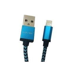 Xavier Xavier Braided Lightning Cable USB 6 Feet - Blue