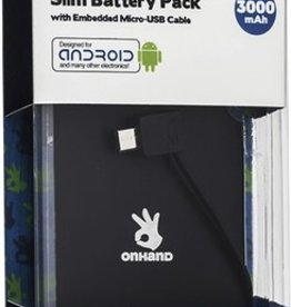 OnHand On Hand Slim Battery MicroUSB Pack Black