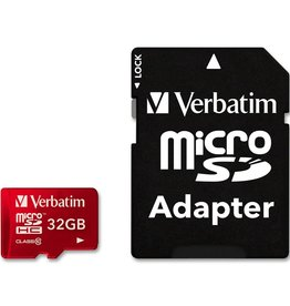Verbatim Verbatim 32GB Tablet microSDHC Class 10 Card - Red