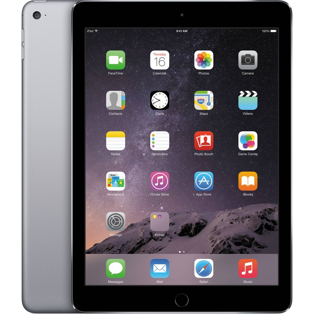 Apple MGTX2LL/A iPad Air 2 Wi-Fi 128GB - Space Gray