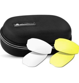 Pivothead Pivothead Kudu Glasses Case & Lens Set - Black w/ Red Trim