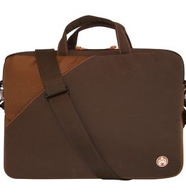 Sumo MOBILE EDGE ME-SUMO58210 14.1 Sumo Notebook Sleeve with Pant Pocket (Brown Suede/Orange Lining)