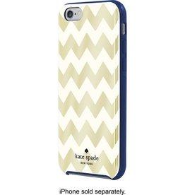 Kate Spade New York Kate Spade Hybrid Hardshell Case for iPhone 6 Gold Chevron