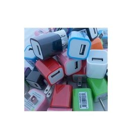 Xavier USB Wall Chargers - Multi Colors - 50 Pack. Individual MSRP $4.99
