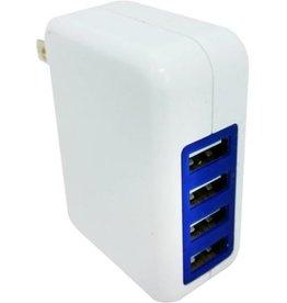 Xavier USB Mega Wall Charger - 4 Ports - 3.1A - White