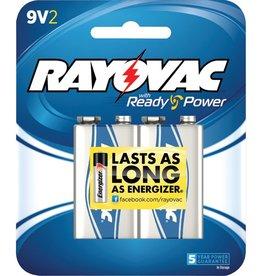 Rayovac RAYOVAC A1604-2F Alkaline Batteries (9V; 2 pk)