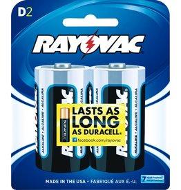 Rayovac RAYOVAC 813-2F Alkaline Batteries (D; 2 pk)