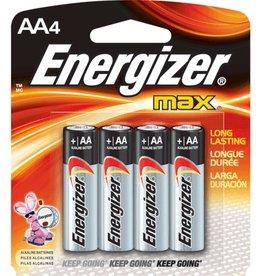 Energizer ENERGIZER E91BP-4 Long-Life Alkaline Batteries (AA; 4 pk)