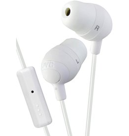 JVC JVC Marshmallow Earbuds w/ Mic - White