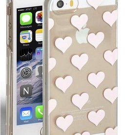 Kate Spade New York Kate Spade Hardshell Case for iPhone 5/5s/5SE - Hearts Gold Foil/Clear