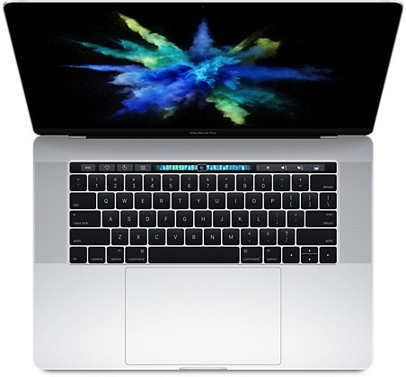 "Apple MLW82LL/A MacBook Pro 15"" 2.7GHz i7/16GB/512GB - Silver<br /> w/ Retina and Touch Bar"