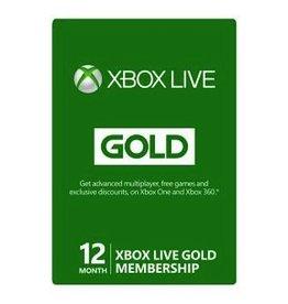 Microsoft XBOX Live 12 Month Gold