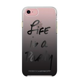 Rebecca Minkoff Rebecca Minkoff Double Up Case for iPhone 7 - Life Is A Party Black