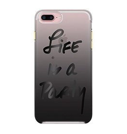 Rebecca Minkoff Rebecca Minkoff Double Case for iPhone 7 Plus - Life Is A Party Black