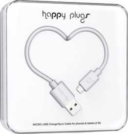 HappyPlugs Happy Plugs Micro USB Charge Cable 2M - White