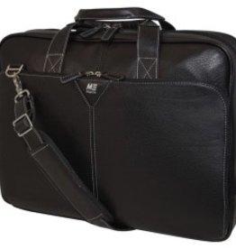 Mobile Edge Mobile Edge Deluxe Leather Briefcase Notebook Case - Black