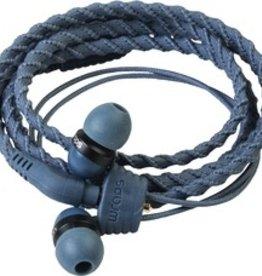 Wraps Wraps Earbuds w/ Mic - Denim