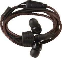 Wraps Wraps Leather Earbuds w/ Mic - Tuscan