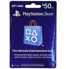Sony PS4 $50 Gaming Card