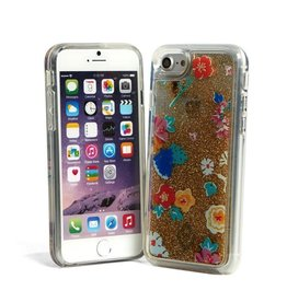 Vera Bradley Vera Bradley Glitter Flurry Case for iPhone 7 - Santiago Floral Multi/Gold/Clear