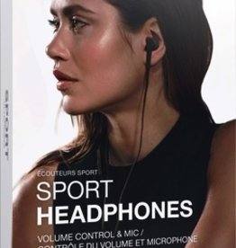 HappyPlugs Happy Plugs Sport Earbuds - Black