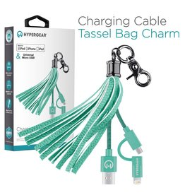 HyperGear HyperGear Charging Cable Tassel - Teal