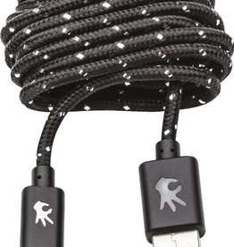 OnHand OnHand Nylon Lightning Cable 10FT - Black